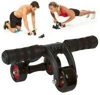 Ab Roller Fitness Abdominal Muscle Workout Training System Gym 3 Wheel Exerciser