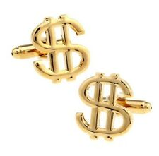 Quality Cufflinks Dollar Sign Cuff links 9k Gold Plated $ French Shirt
