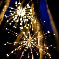 200 LED for Starburst Hanging Fireworks Fairy String Light with Remote Xmas