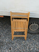Vintage solid wood folding chair LB090220N