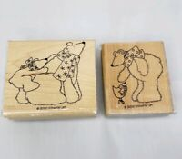 Stampin Up POLAR BEARS Winter Christmas Holiday Wood Rubber Stamps