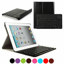 Detachable Wireless Bluetooth Keyboard With Case for iPad 2 3 4 White Colour