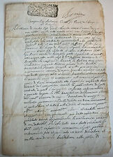 DOCUMENT ANCIEN  1714