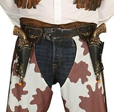 Adulti Cowboy DOPPIA FONDINA CON PISTOLE REVOLVER PISTOLA adulto Wild West Six Shooter