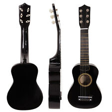 "New 21"" 6 Strings Acoustic Guitar Balck Beginners Practice Musical Instrument"