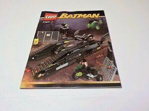 Instruction Manual ONLY for Lego 7787 Batman The Bat Tank