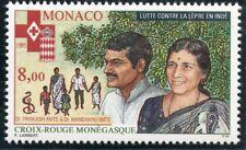 TIMBRE DE MONACO N° 2001 ** CROIX ROUGE / LUTTRE CONTRE LA LEPRE EN INDE