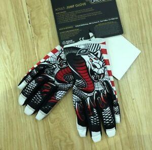 O'neal Jump Serpent MTB DH FR Mountain Bike Full Finger Glove White Black 0385JB