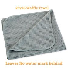 Waffle Weave Grey Matter Thirsty Microfiber Drying Towel cloth 25x36 Extra Large