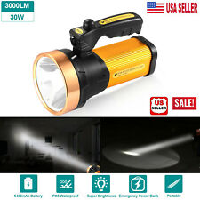 Super Bright Searchlight Handheld Portable Spotlight Led Rechargeable Flashlight