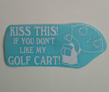 GOLF CART decal caddy kart electric club car ezgo custom yamaha  - white