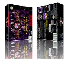 Ultimate Mortal Kombat 3 SNES Replacement Game Box + Cover Artwork Art (No Game)