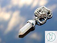 Labradorite Crystal Point Pendant Natural Gemstone Necklace Healing Stone Chakra