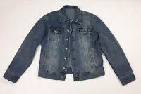 Daniel jacket jeans XL usata vintage biker giacca uomo giubbotto usato blu T2502