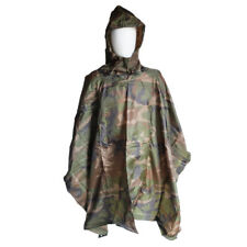 Angolan Army Waterproof Emergency Rain Poncho Survival Outdoor Camo Camouflage