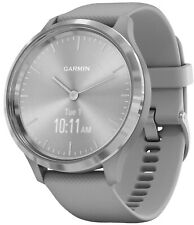 Garmin Vivomove 3 Smart Watch with Silicone Band Light Grey/Silver 010-02239-00