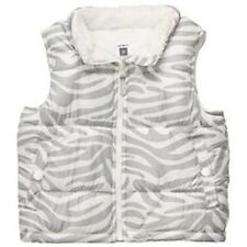 NWT CARTERS GIRLS  Winter Vest with Zebra white and grey...