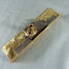 French Antique Writing Desk Drawer Brass Double Locks 19th century