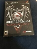 Mortal Kombat: Deadly Alliance (Sony PlayStation 2, 2002) Complete W Manual