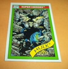 Hulk (gray)  # 17 - 1990 Marvel Universe Series 1 Base Trading Card