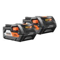 RIDGID 18V HYPER Lithium-Ion Batteries 4.0Ah Cordless Tool Power Source 2 Pack