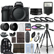 Nikon Z50 Mirrorless Camera Body + 16-50mm Z VR Lens + 30 Piece Accessory Bundle