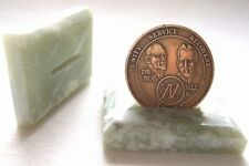 Recovery Carved Genuine Jade Rectangle Holder Unique great for AA NA CA Alanon
