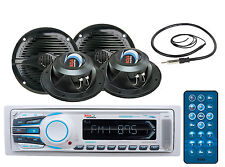 """New BOSS MR1308UAB Boat Mechless MP3 AM/FM Bluetooth Player+5.25""""150WSpkr+45""""Ant"""