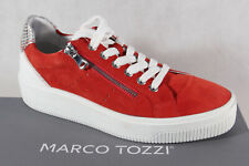 Marco Tozzi Sneakers Low Shoes Lace Up Slippers Red New