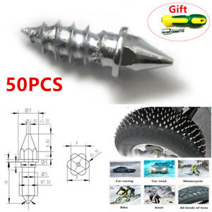 ATV Motorcycle Car 50PCS Tire Spike Stud Thorn Screw Anti-slip Snow Ice Nail Kit