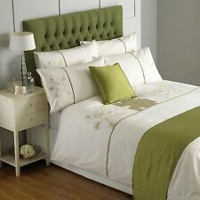 Paoletti Serena Flower Applique Duvet Cover Set in 3 Colours, Same Day Dispatch