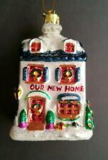 "Kurt Adler ""Our New Home"" Holiday Glass Ornament, Noble Gems Christmas House"