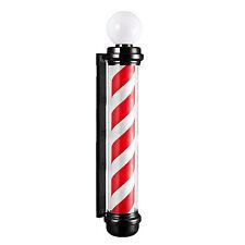 Globe Barber Pole Rotating illuminated Heavy duty Salons Black Waterproof 140cm