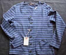 Ralph Lauren RRL DOUBLE RL LS STR JERSEY CARDIGAN BLUE NAVY Gr XL