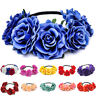 Hot Party Floral Rose Flower Headband Hair Crown Festival Boho Garland Large Big
