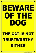 Beware Of The Dog Aluminum Sign Funny 8 X 12 Made In The Usa