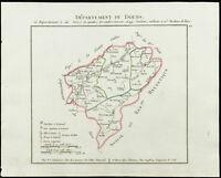 1802 - Mapa Antigua Departamento Del Doubs De Chanlaire. Francia