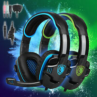 Sades SA-708 GT Gaming Headsets Headband headphones w/Mic for PS4 Xbox one PC