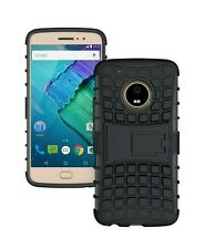 "Motorola Moto G5 Plus 5.2"" shockproof Armor defender kickstand Hybrid cover case"