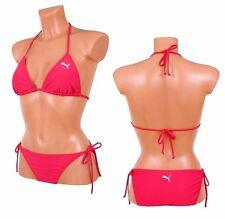 PUMA Cat Logo Bikini Triangle Neckholder Damen Badeanzug Women Beach pink [38] M