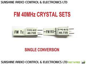 RC FM 40mhz Futaba Compatible FM 40 MHz Crystals Transmitter Receiver RX TX Set
