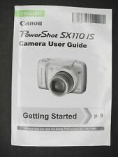 Canon PowerShot Sx110 Is Camera Instruction Manual / User Guide