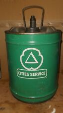 Vintage Cities Service Motor Oil 5 Gallon Oil Can Nice Can