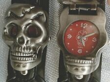 Skull Head pulsera reloj watch Gothic punk rock calavera