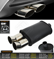 UNIVERSAL PERFORMANCE FULL FLOW STAINLESS STEEL EXHAUST BACKBOX LMC-006-ALR