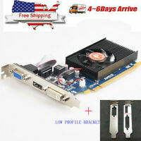 AMD ATI Radeon HD 7450 2GB VGA HDMI DVI PCI-E Low Profile Video Card For Chassis