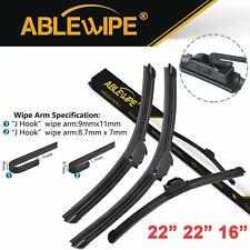 ABLEWIPE Fit For Chevrolet Trailblazer EXT 2006-2000 Wiper Blades J/U (Set of 3)