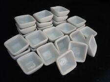 30x10 mm White Square Bowls Dollhouse Miniatures Ceramic Supply Deco