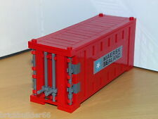 LEGO MAERSK LINE TRAIN SHIP SHIPPING CONTAINER RED