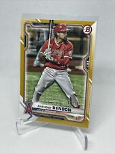 2021 BOWMAN ANTHONY RENDON GOLD PARALLEL #7/50 LOS ANGELES ANGELS